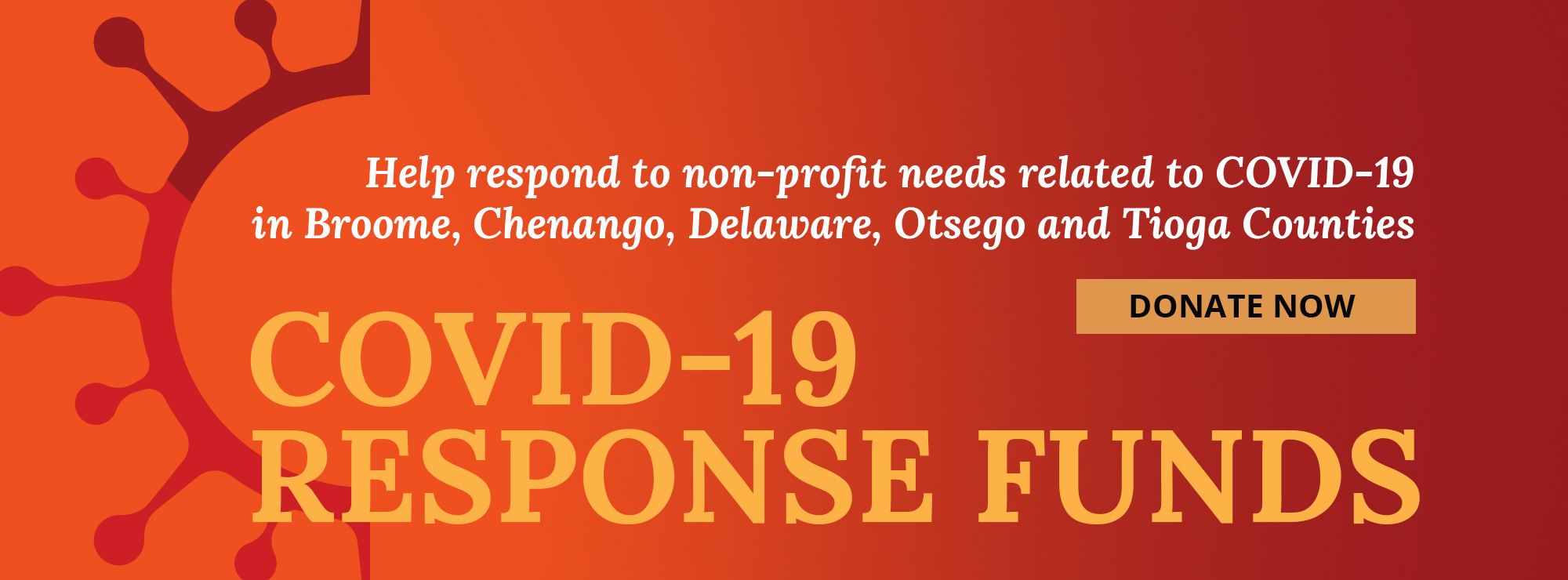 Graphic introducing Community Foundation initiatives for COVID-19 Response Funds